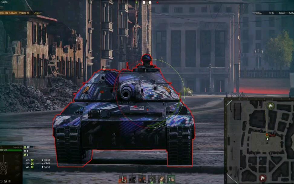 坦克世界波兰10级MT CS-63装甲测试 1.10测试服
